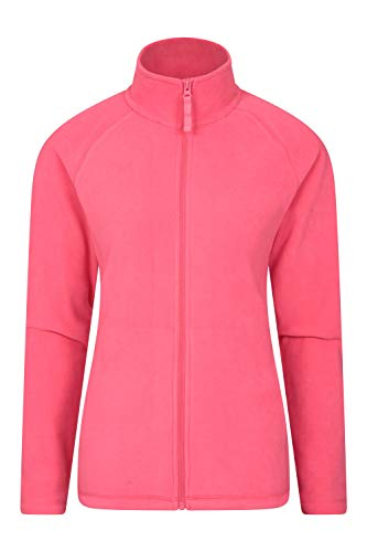 Mountain Warehouse Raso Womens Fleece – Lightweight & Warm Ladies Sweater, Breathable Top, Microfleece Pullover - Ideal for Winter Travelling, Walking, Hiking, Skiing Coral 12
