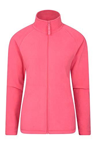 Mountain Warehouse Raso stilvolle Damen-Fleecejacke – Leichter, Warmer Damensweater, schnell trocknender Pullover, weich, glatt – zum Reisen, Spazierengehen, Winter Koralle 40