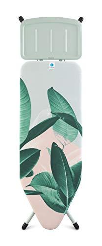 Brabantia - 118487 - Table à repasser C, 124 x 45cm, repose centrale vapeur, Tropical Leaves