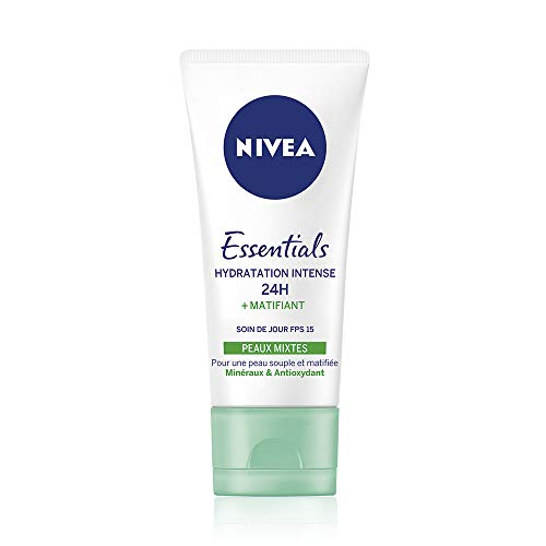 pas cher un bon Nivea Essentials 24 Hours Day Care Hydratation Intensive + Mat (1 x 50 ml), Crème Hydratante…