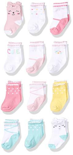 Onesies Brand - Calcetines para bebé (12 pares), Cats, 6-12 Months