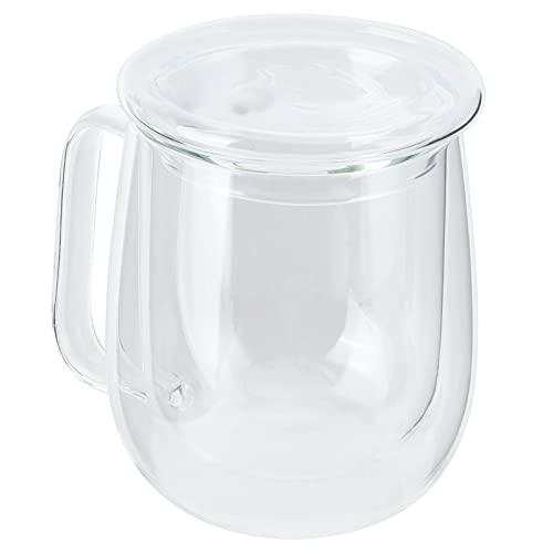 Tazza di Vetro, Tazza da tè affidabile e Durevole Vetro Trasparente a Doppio Strato con 300 ml per la Maggior Parte delle Persone per Bar, Hotel, Sale da tè, ristoranti