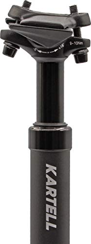 Kartell ® Tija de sillín con muelle de aluminio | Tija de sillín con muelle para MTB, trekking/City y bicicletas eléctricas | Diámetro disponible de 31,6 mm, color negro