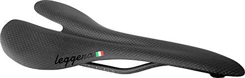 Carbon Fiber Road Bike Saddle by leggera; 90g, Rated for 100kg (3K Carbon Weave)