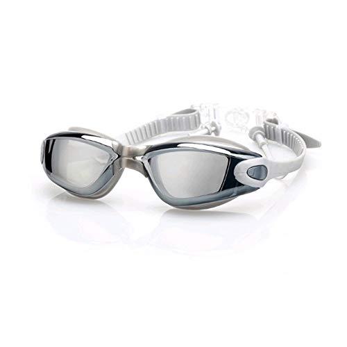 Zwembrillen | Zwembrillen voor Mannen Vrouwen Volwassenen - Beste Niet Lekken Anti-Fog UV Bescherming Clear Vision Grijs
