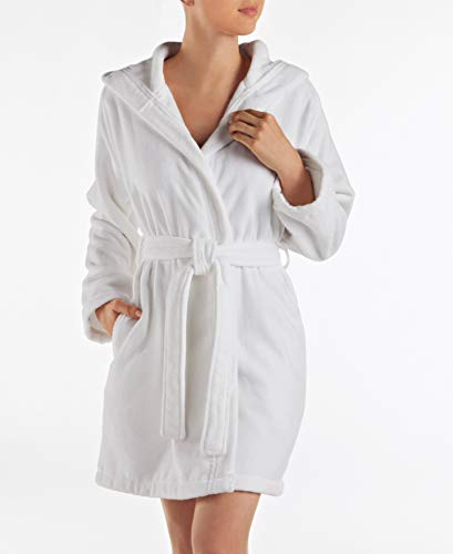 Lacoste Fairplay Robe, 100% Cotton, 34'L, White