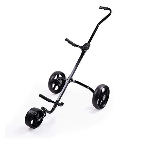 KXDLR Golf Trolley 3 Wheel Iron Cart Foldable Manual Style Golf Trolley Golf Tri Cart