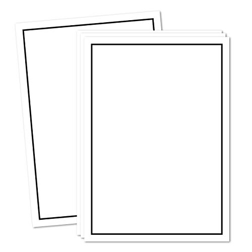 50x Trauerpapier DIN A4 Motiv: Trauerrand schwarz - Briefpapier Trauer 297 x 210 mm - 90 g/m² Kondolenz Papier - Trauer Papiere by GUSTAV NEUSER