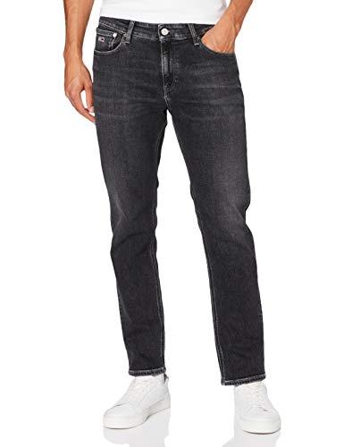 Tommy Jeans Uomo Ryan Rlxd Strght Brbkcd Pantaloni, Denim (Barton Black Comfort), W27/L30