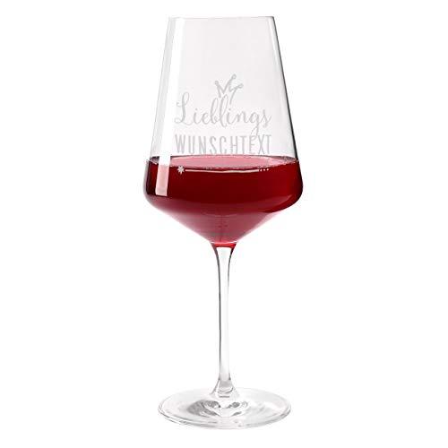 Herz & Heim® Leonardo Weinglas mit Gravur - Lieblings - für Ihren Lieblingsmenschen, Lieblingskollegen, Lieblingsschwester