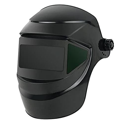 MERIGLARE Soldador Vista Grande Casco de Soldadura Máscara Capucha Soldador Rectificado Eléctrico Negro