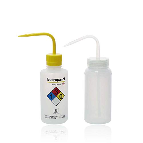 ULAB Wash Bottle Set, 1pc of Isopropanol and 1pc of General Wide-Mouth wash Bottle, LDPE Material, Vol.500ml, UWB1019