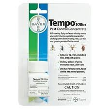 Not for Sale to: Can not be sold to NY, SC, AK, CT, VT Tempo SC Ultra Concentrate kills over 60 flying and crawling pests, including flies, ants and spiders Safe for use in and around barns, horse stables and animal quarters Highly effective, fast kn...