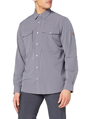 Fjallraven Abisko Trekking Shirt M Chemise de randonnée à Manches Longues pour Homme M Gris (Shark Grey)