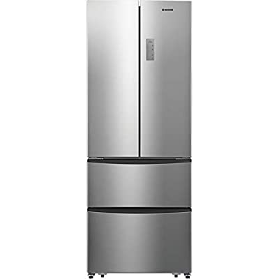Hoover HMN7182IXK Freestanding American Fridge Freezer, Frost Free, 404 L capacity, 70 cm wide, Stainless Steel