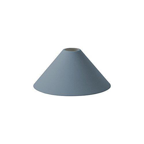 Cone Shade - Pantalla para lámpara (revestimiento de polvo, interior blanco, 12 x 25 cm), color azul oscuro