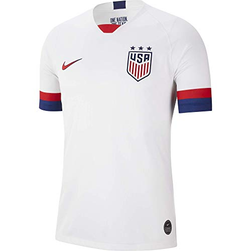 Nike USA 2019 Youth Home Jersey (White, Youth Medium)