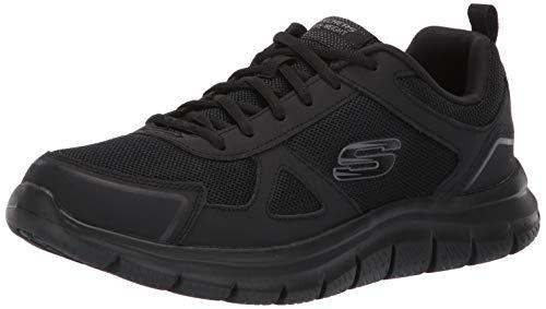 Skechers Track-scloric 52631-bbk, Zapatillas para Hombre, Negro (Black 52631/Bbk), 44 EU