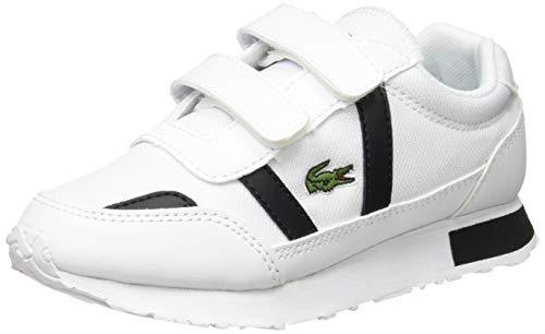 Lacoste Partner 0120 1 SUC Sneaker, Wht Blk, 32 EU