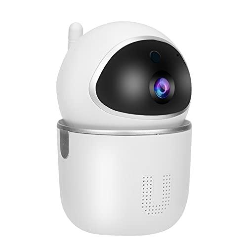 Jopwkuin Lente de Vidrio Completo 1080P Sistema de cámara de Seguridad inalámbrico Impermeable Cámara WiFi 128 GB de Memoria Detección de Movimiento Vigilancia de Seguridad(Enchufe de la UE)