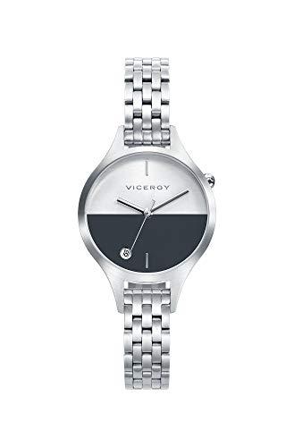 Viceroy Damen Analog Quarz Smart Watch Armbanduhr mit Edelstahl Armband 42330-57