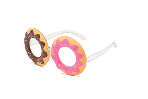 NOBRAND 2pcs De La Novedad Fiesta Gafas De Sol Accesorios del Traje del Juguete Bromas For Los Adultos De Los Niños - Donut (Color : Donuts)