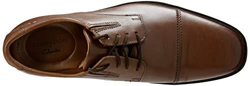 Clarks Men's Tilden Cap Oxford Shoe,Dark Tan Leather,10.5 M US