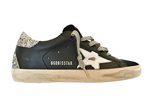 Golden Goose Scarpe Donna Sneaker Superstar Vintage GWF00102.F000716.90220 Nero (Numeric_40)