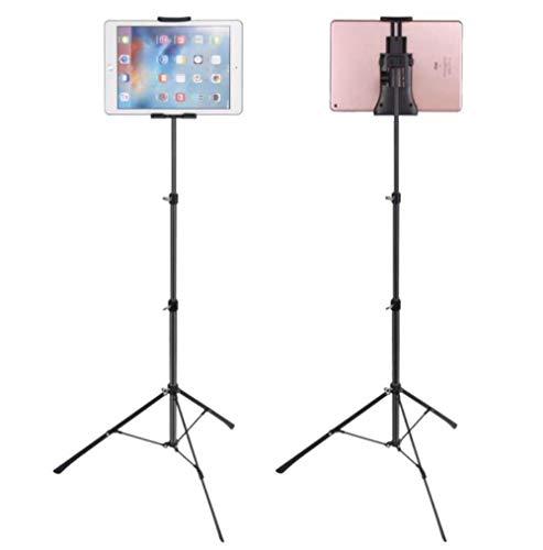 WER Universal Tablet stativ bodenständer, höhenverstellbar 4' - 12' Tablet stativ Halterung für Ihre Handy, ipad Mini und andere innerhalb von 4' -12' (Eine Seite im Bereich von 12,6 cm bis 22,3 cm)