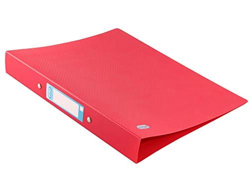 ELBA Urban Ringbuch A4, aus Kunststoff, 2 Ringe, Rückenbreite 4 cm, blickdicht, rot, 1 Stück