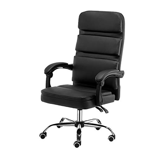 LJJSMG Office Chair Boss Chair Computer Chair Mass Office Chairs Managerial Chairs,Executive Chairs Reclining Swivel Gaming Chair High-Back Office Computer Chair Adjustable Height 18-22 in,Black