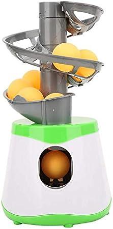Wxnnx Máquina de Pelotas de Tenis Robot de Entrenamiento de Tenis de Mesa Servicio automático Raqueta para Padres e Hijos Lanzador de Tenis de Mesa Deportivo con 10 Pelotas de Ping-Pong