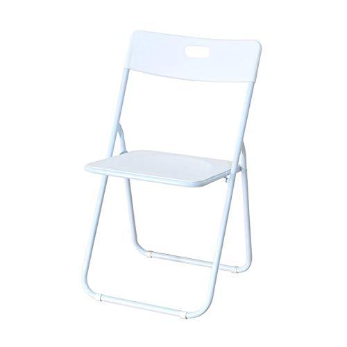 Dall Chaises Le Fer Chaises Pliantes Intérieur Bureau Chaise en Métal Jardin Bureau Ordinateur (Couleur : Blanc)