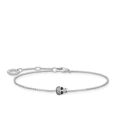 Thomas Sabo Silver Skull Bracelet - 925 Sterling Silver - 16-19cm Length