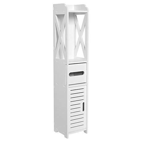 Cuarto de baño Muebles de Inodoro Gabinete Blanco Gabinete de Madera Papel doméstico Toalla Toalla Rack Rack