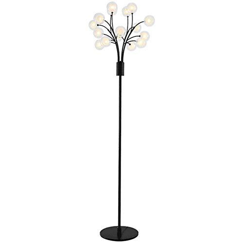 CLJ-LJ Forma Lámpara de pie moderna creativo de la flor Negro Hierro forjado Cristal Led lámpara de pie 1,78 M for sala de estar dormitorio Oficina lectura de cabecera