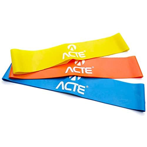 Acte T71 Kit Mini Band, Adulto Unissex, , Amarelo, Laranja e Azul