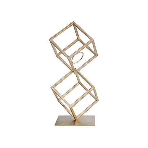 NYKK Botellero Creativo Geométrico Estante de Vino Decoración Muebles de Sala Accesorios Accesorios Vino Metal Estante de Vino (tamaño : A)