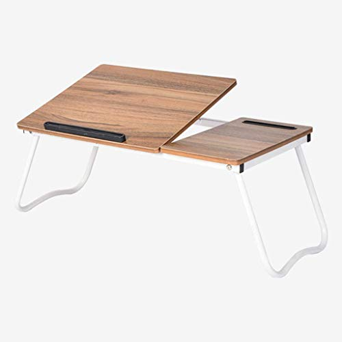 QTQZDD laptop bed computertafel Lazy Table gratis installatie opvouwbare Lazy Small Table eenvoudige mode bureau studetafel (kleur: geel) 3 3