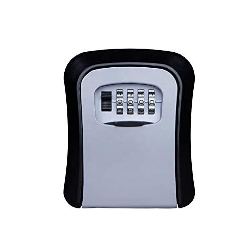 EXCALIBUR - Caja de seguridad para llaves montada en la pared, seguridad de 4 dígitos de seguridad de almacenamiento al aire libre