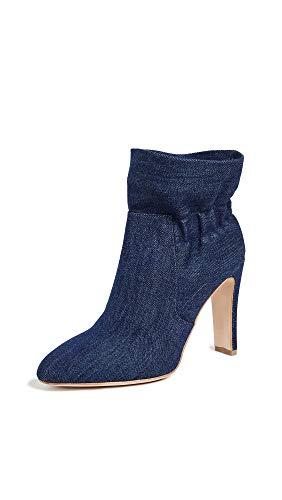 Laurence Dacade Women's Steven Ruffle Boots, Blue, 10 Medium US
