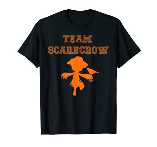面白いチームかかし帽子怖い不気味なハロウィーンの衣装 Tシャツ