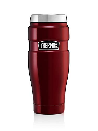 Thermos King Reise-Thermobecher, Edelstahl, 470 ml, Cranberry Red, 0,47 l