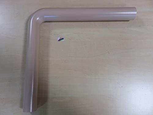 Spülrohrbogen bahamabeige 90° 390 x 350 x 44 mm Spülkasten Anschlussrohr WC