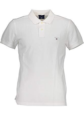 GANT 1701.002202 Polohemd mit Kurtzen Ärmeln Harren Bianco 110 S