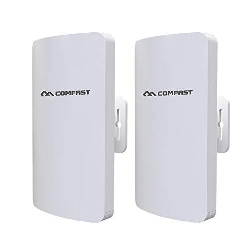 CSJD Kit Wireless Bridge Outdoor, Bridge Wireless Point-to-Point ingebouwd en Esterno/ondersteuning CPE overdracht oplossing 3km voor PTP, PTMP (Wds)