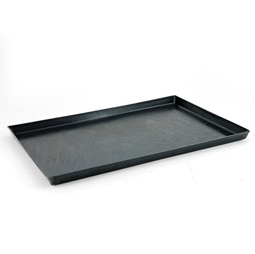 Hornear cacerolas Agnelli rectangular Sheet Metal Negro, espesor 0,8 cm, Negro, 55x38x3 cm