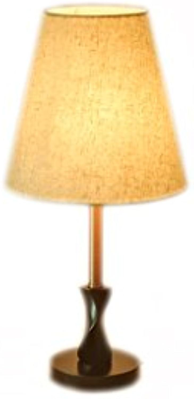Schlafzimmer Holz Sule und Stoff Tischlampe Mehrfarbig (Farbe   B-Taste)