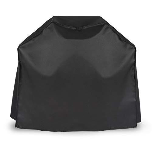 Klarstein Lucifer 2.0 Cover Wetterschutzhaube - Grillabdeckung, Wetterschutzhülle, 600D Canvas, Segeltuch, 30% Polyester, 70% PVC, abwaschbar, passend für alle 2-Brenner-Gasgrills, schwarz