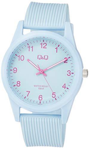 [シチズン Q&Q] 腕時計 アナログ 防水 ウレタンベルト VS40-011 レディース ブルー